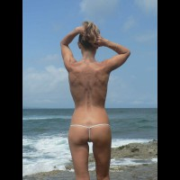 Topless Wife:Kaline At The Beach - First Time