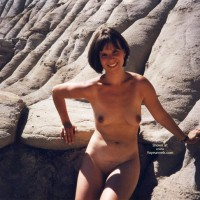 Dark Nipples - Brunette Hair, Dark Nipples, Naked Outdoors, Nude Outdoors