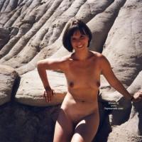 Dark Nipples - Brunette Hair, Dark Nipples, Naked Outdoors, Nude Outdoors