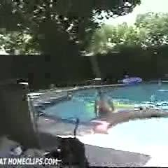 Julie Comming Out Of Pool