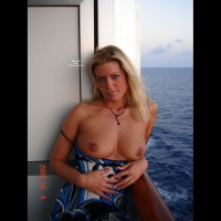 Topless Blond Wife - Big Tits, Blonde Hair, Blue Eyes, Long Hair, Topless