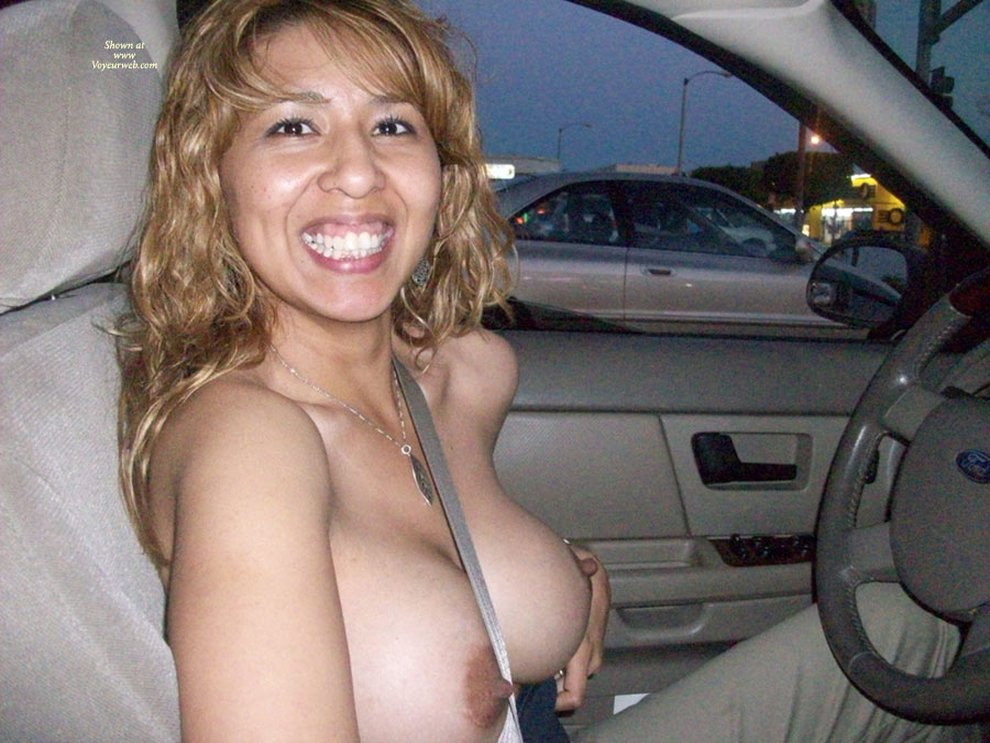Amateur driving naked
