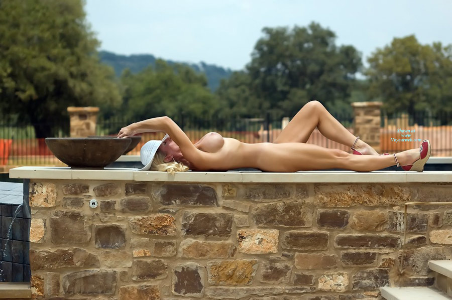 Nude Wife On Heels - Blonde Hair, Firm Tits, Long Hair, Long Legs, Hot Wife, Naked Girl, Nude Amateur, Nude Wife, Sexy Legs , Round Firm Tits, Toned Legs, Dressed For A Sunny Day, Reclining On Stone Wall, White Hat, White Mesh Hat, Sexy Long Legs, Red Dorset Wedges, Large Tits, Red Shoes, Hot Pose, Red Espadrilles