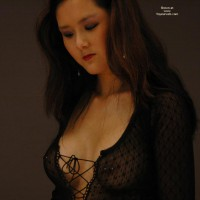 Long Brown Hair - Long Hair, Pierced Nipples, Red Lips