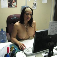 Nude Co-Worker:At Work...