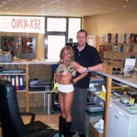 Jizzy & Clerk In Sex Shop 2 Of 2