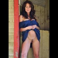 Dark Pubic Hair - Black Hair, Blue Eyes, Dark Hair, Landing Strip, Long Hair, Naked Girl, Nude Amateur