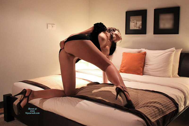 Pic #1 - Semi Nude Girl Kneels In Heels - Hard Nipple, Heels, Long Legs, Round Ass, Shaved Pussy, Spread Legs, Topless, Hot Girl, Naked Girl, Nude Amateur , High Heels Shoes, Spread On The Bed, Topless Hot Girl, Getting Ready For Doggie, Nice Long Legs, Black High Heels Sandals, Medium Breasts, Pulling Up Dress For Easy Access, Hard Body Tits, Black Dress, Sexy Shoes