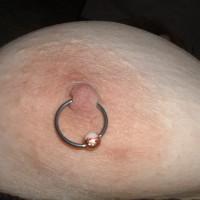 Topless Amateur:36DD's, Pierced