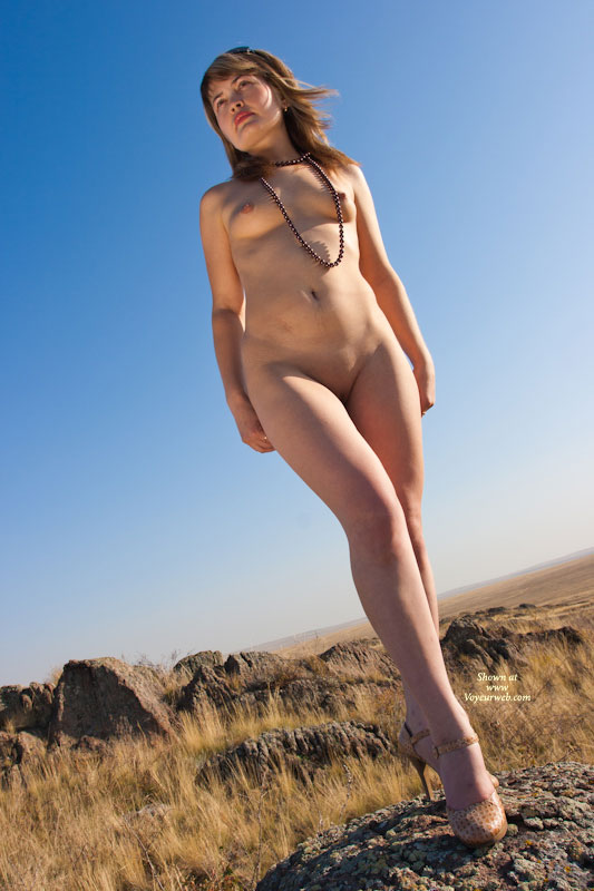 Pic #1 - Nude Wife's Friend on heels:Steppe Flower , ***
