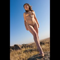 Nude Wife's Friend on heels:Steppe Flower