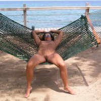 Relaxing On A Hammok