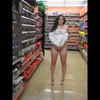 Drugstore Flash - Brown Hair, Flashing, Hairy Bush, Long Hair, Nude In Public, Naked Girl, Nude Amateur, Pussy Flash , Girl Flashing At Store, Pantieless, Flashing In Public, Nude Friend On Heels, Flash In Store, Pantyless Flash