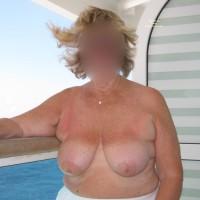 Topless Amateur:Grandma At Sea
