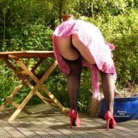 Amateur in Lingerie:Madita In The Garden