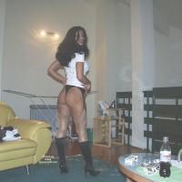 Nude Wife on heels:*NH Yellow Sofa 2