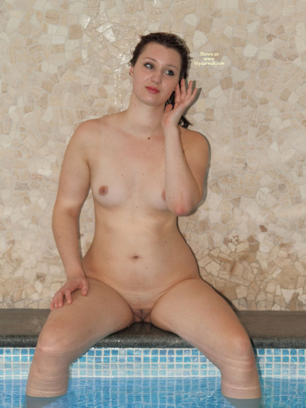 Pic #1 - Sitting Naked On Hot Tub - Big Tits, Small Tits, Spread Legs, Hairless Pussy, Naked Girl, Nude Amateur , Nude Friend, Naked By The Pool, Hourglass Figure, Small Titties, Nude Girl By The Pool