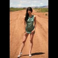 Very Long Legs - Erect Nipples, Heels, Long Hair, Long Legs