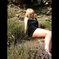 Cute Little Becky Stripping In The Sun