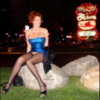 Pantyless In Vegas - Heels, Long Legs, Stockings