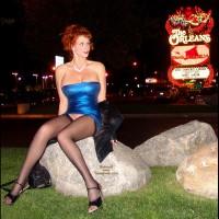 Pantyless In Vegas - Heels, Long Legs, Stockings