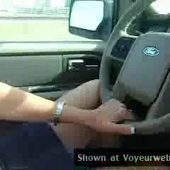Topless Wife:*DT Sexy Wife Driving Topless