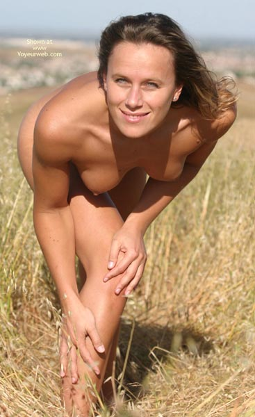 Pic #1 - Topless Outdoors - Bend Over, Blue Eyes, Small Boobs, Topless Outdoors , Topless Outdoors, Bend Over, Naked Girl Outdoors, Outdoor Poses, Blue Eyes, Athletic Body, Looking Straight At Camera, On Grass, Light Eyes, Small Boobs