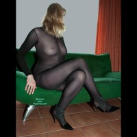 Amateur dressed sexy:Catsuit And Heels