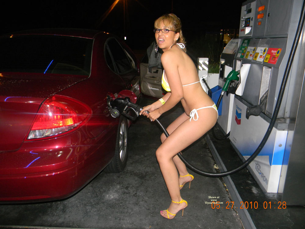 nude pumping gas pics