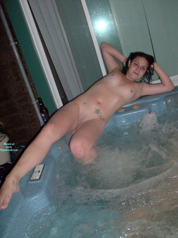 Think, Naked hot tub wife