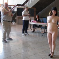 Nude Friend on heels: Li'l Phi Casts Her Vote - Part 2
