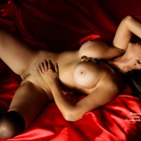 Nude Amateur: Red Satin
