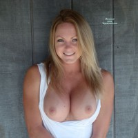 Nice Blonde With Natural Looking Breasts - Big Tits, Blonde Hair, Blue Eyes, Long Hair, Topless Girl, Topless