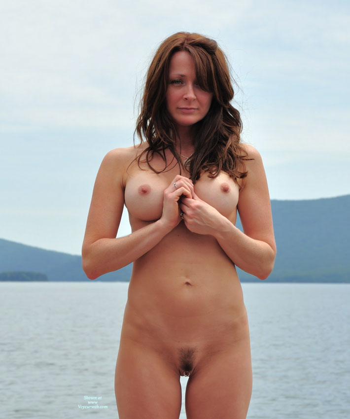 Nude MILF - Hairy Bush, Hard Nipple, Landing Strip, Long Hair, Milf, Red Hair, Naked Girl, Nude Amateur , Full Frontal, Big Clit Ring, Slender Sexy Body, Pussy Ring, Pierced Clit, Lakeside Posing, Long Red Hair