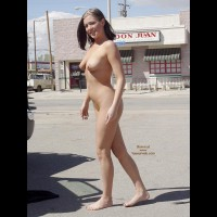 Nude In Public - Brunette Hair, Exposed In Public, Nude In Public, Nude Outdoors