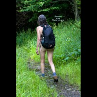 Nude Wife on heels:*SP Hiking In The Mountains