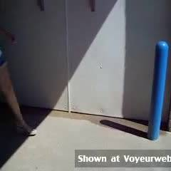 Topless Wife:*RP Jacque Taking Her Panties Off At Another Car Wash