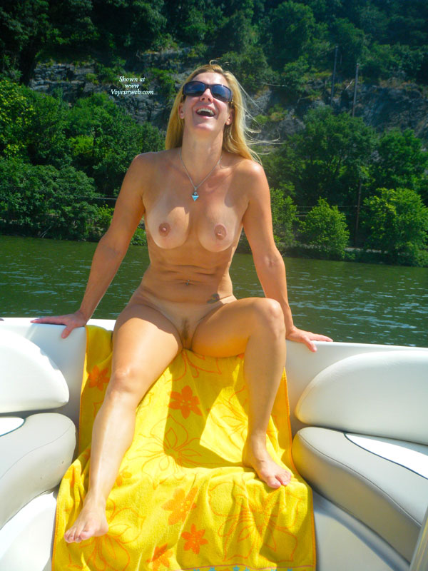Wife nude boat