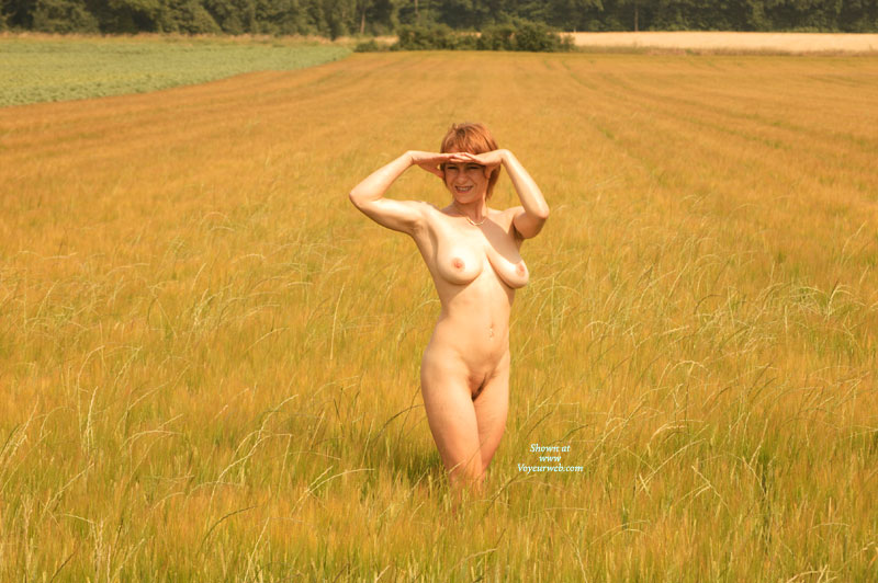 Pic #1 - Nude Wife - Big Tits, Landing Strip, Natural Tits, Red Hair, Naked Girl, Nude Amateur, Nude Wife , Full Frontal, Curvy Body, Short Red Hair, Slim Body, Nude Outdoors, Short Hair, Big Natural Tits Outdoors, Corn Field, Frontal Pose
