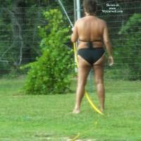 Topless Wife:*SP Sunning Wife Getting Tan