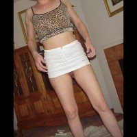 Pantieless Ex-Girlfriend:*SA White Skirt