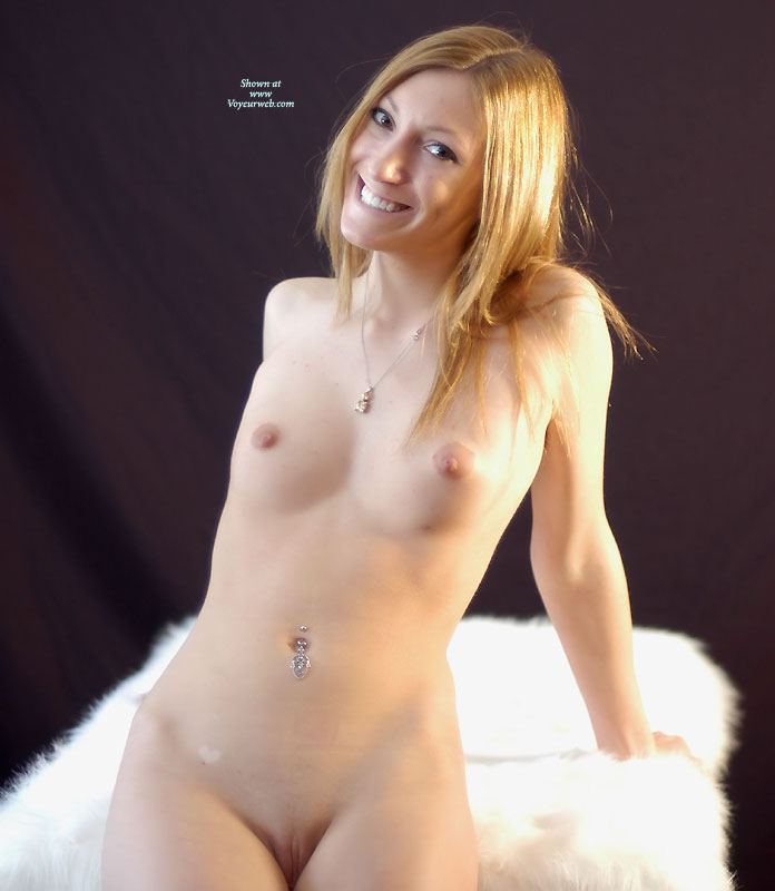 Pic #1 - Sexy Nude Wife Sitting On Fur - Blonde Hair, Small Tits, Bald Pussy, Naked Girl, Nude Amateur, Nude Wife , Very Small Tits, Darling Nipples, Leaning Back On Hands, Hot Wife, Belly Ring, Inocent Smile, Hands Behind, Frontal Pose