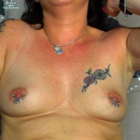 Topless Wife: Pierced Boobs