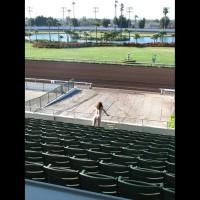 Nude Girl In Stadium - Blonde Hair, Nude In Public, Red Hair, Naked Girl, Nude Amateur