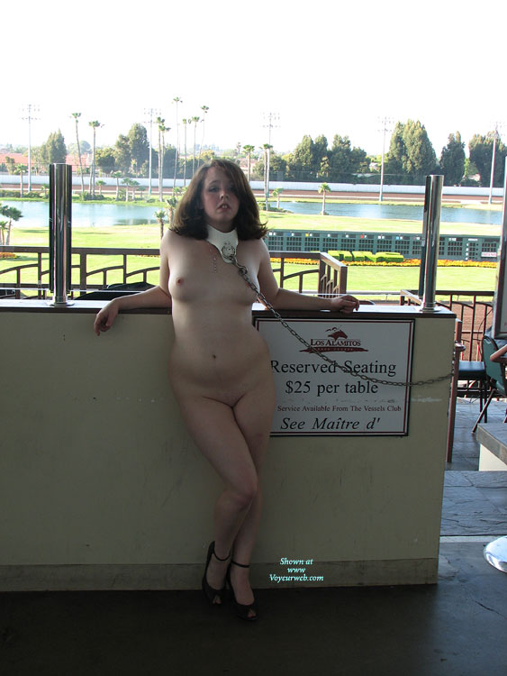 Pic #1 - Girl Naked In Public With Chain And Collar - Heels, Bald Pussy, Naked Girl, Nude Amateur , Cfm Look, Exposed, Sexy High Heels, Dog Collar And Chain, Girl Chained Up, Hot Babe On A Short Leash, Round Boobs, Nude Friend On Heels, Leaning Back On The Counter, Collared, Amateur, Soft Tummy