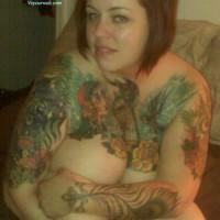 Nude Girlfriend:Tat'd Tits