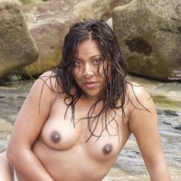 Dark Nipples - Dark Nipples, Topless, Wet