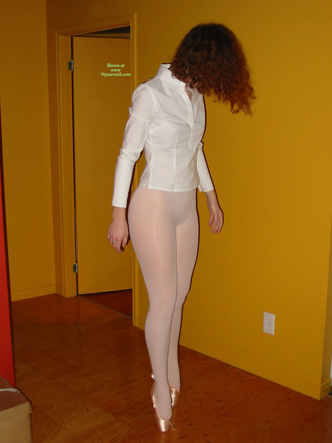 Pic #1 - Balerina On Toes - Red Hair, Naked Girl, Nude Amateur , Up On Toe Shoes, Ballet Ass, Standing In Pantyhose, Pantyhose, Standing In A Corridor, Girl In White Pantyhose, Sexy Figure, White Shirt, Hidden Assests, Gold Toe Shoes, White Panty Hose, Girl Toe Dancing, White Pantyhose, Face Hidden Behind Hair