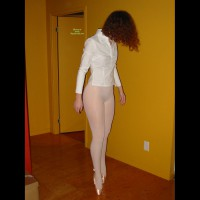Balerina On Toes - Red Hair, Naked Girl, Nude Amateur
