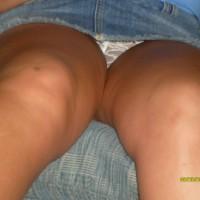 Wife upskirt:Showing New Panties